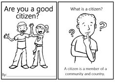 Teaching Citizenship in Kindergarten. Great lesson for the