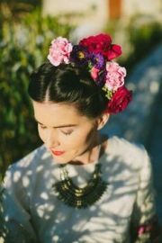 frida kahlo floral headband flowers