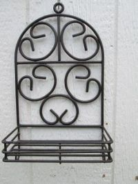 Coffee Mug Holder, Wall Mounted made out of Wrought Iron ...