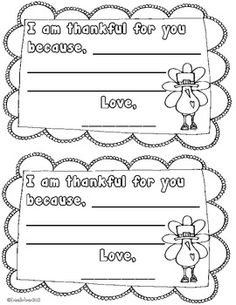 Printable cards that students can color, write a message