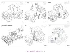 Tractor Printable of Massey 9005 Combine. You Can Print