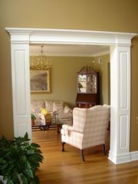 Wrapped columns and header...foyer side | HOME | Pinterest