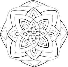 Mandalas, Coloring and Coloring for adults on Pinterest
