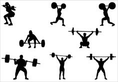 Barbell silhouette clip art. Download free versions of the