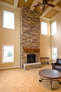 Two Story Fireplace on Pinterest  Wayne Homes 3 Pillar Homes and Two Story Windows