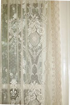 The Highland Rose Patterned Cotton Lace Panel Is Straight Out Of