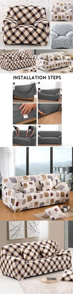 stretch morgan 1 piece sofa furniture cover grey bed slipcovers 175754 brand new 2 3 seat slipcover elastic couch protector fit