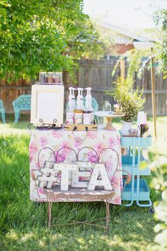 Baby Girl Garden Tea Party Shower Gardens Easels And Baby Girls