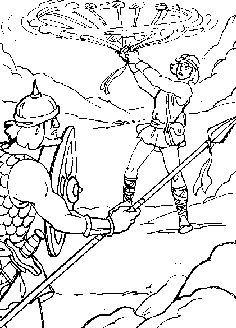 David Weeping Over the Death of Absalom coloring page from