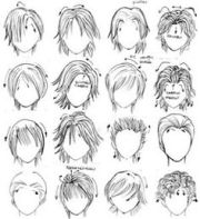 manga boy hair