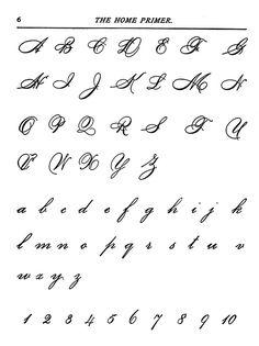 Capital cursive letters, Cursive letters and Cursive