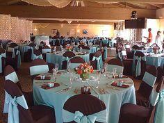 blue and brown wedding ideas | deweddingjpg.com