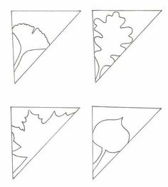 Mountain pattern. Use the printable outline for crafts