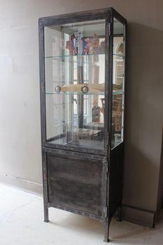 MetalGlass ApothecaryPharmacy Cabinets on Pinterest