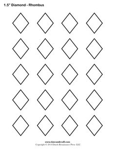 Rhombus pattern. Use the printable outline for crafts
