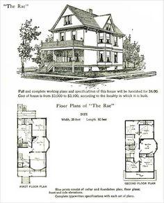 1878 Print House Architectural Design Floor Plans
