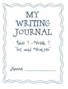 2nd Grade Weekly Writing Journal Unit 1 Week 2