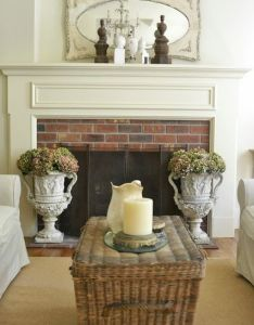 Charming cottage decorating ideas house tour tours fireplaces and love the also rh pinterest