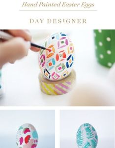 Hand painted easter eggs inspired by day designer also best images about on pinterest tissue paper mud and rh