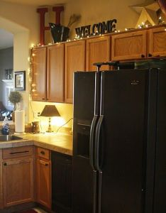 Ideas of what to put in that space about the cabinets home pinterest spaces and kitchens also rh
