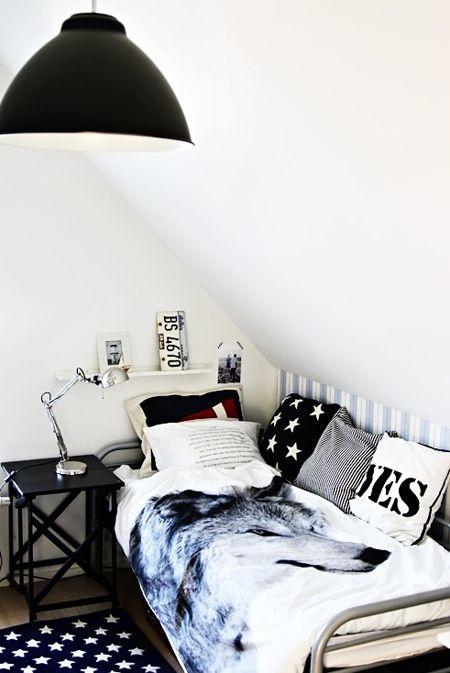 Scandinavian Boy's Bedroom | via The Boo and the Boy blog | House & Home