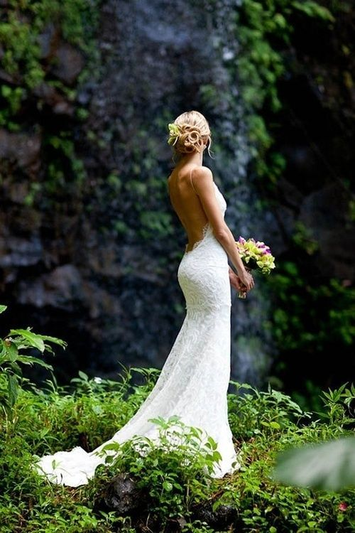 Low Back Wedding Dress