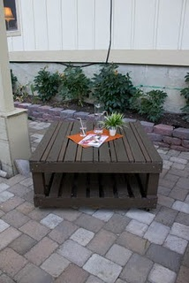Pallet Table – Great for your deck or patio .