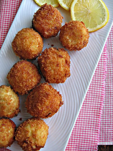 Artichoke & Asiago Poppers. That's right. I took artichoke dip and fried it.