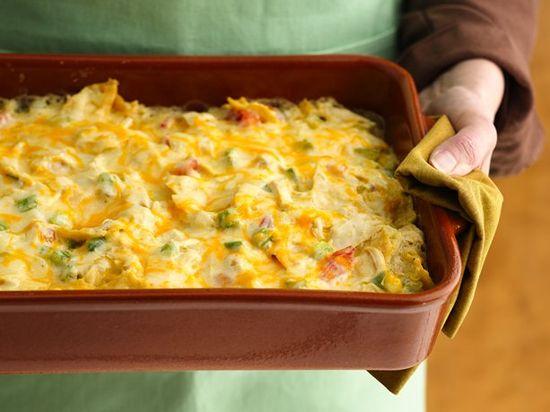Healthy Chicken Tortilla Casserole