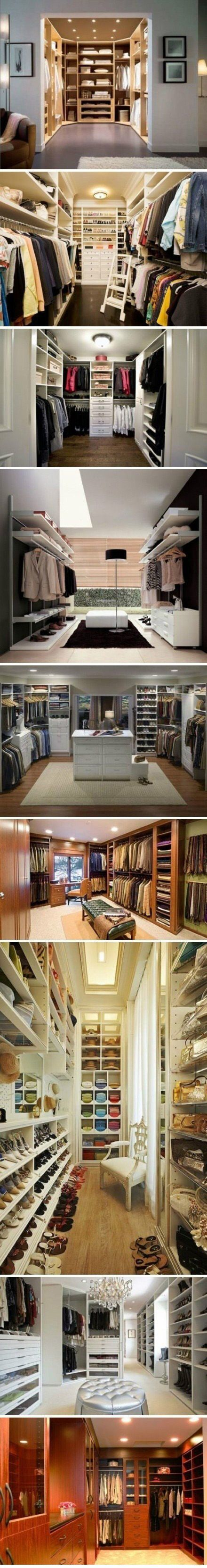 Walk-in closets! Hey, a girl can dream!