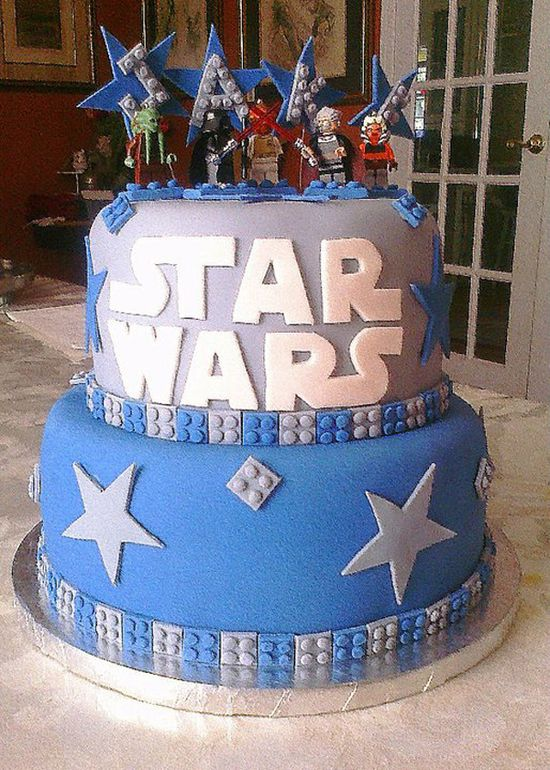 Star Wars Lego Cake  CustomDesignCatering.com