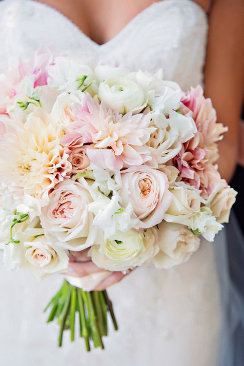 nice – Roses, dahlias, ranunculus, and sweet pea bouquet – I would like them in