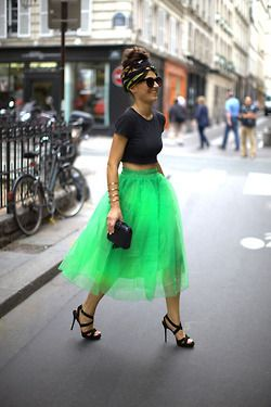 Very Carrie Bradshaw in neon!
