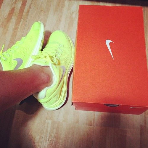 neon nike shoes   These would look great with my LSU stuff.
