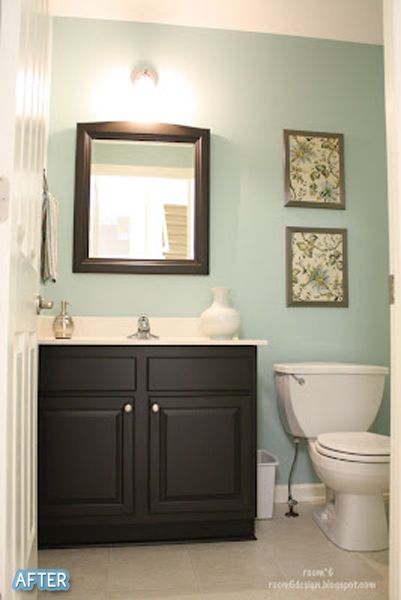 Downstairs bathroom – Aqua – This is the exact color we have picked out. And I a