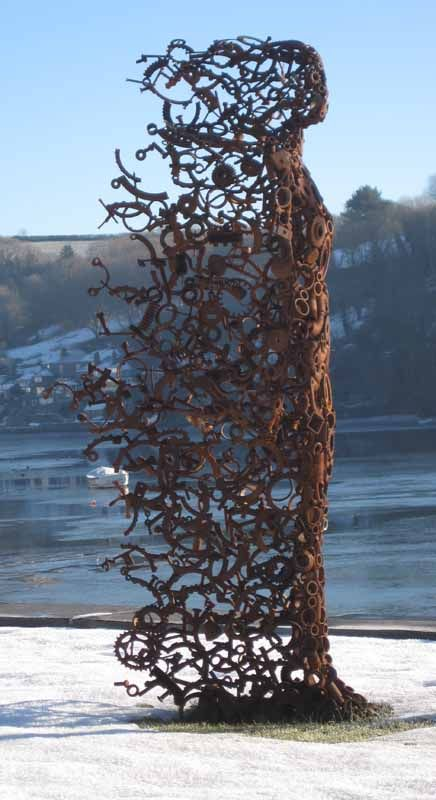 """""""You Blew Me Away"""" sculpture by Penny Hardy ~ LOVE this piece, creativ"""