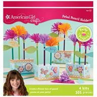 American Girl party craft — flower pencils!