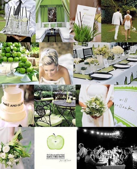 Green + White Wedding