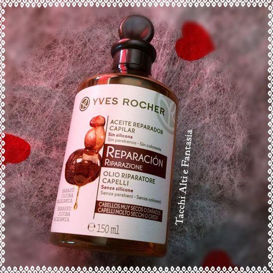Olio riparatore capelli Yves Rocher trattamento pre-shampoo per capelli secchi e crespi
