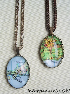 Mother's Day Gift…Map Pendant Necklace. Now, to find a map of France! :/