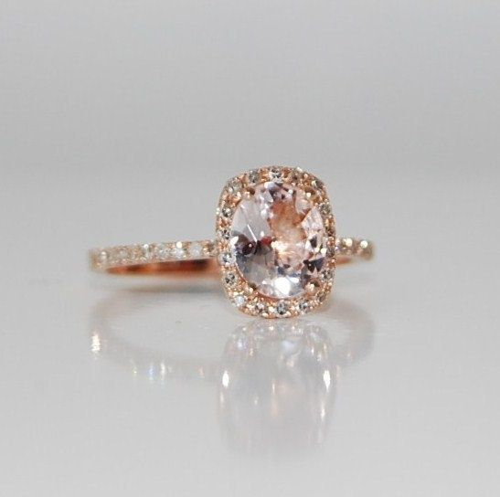 Rose Gold Champagne Sapphire