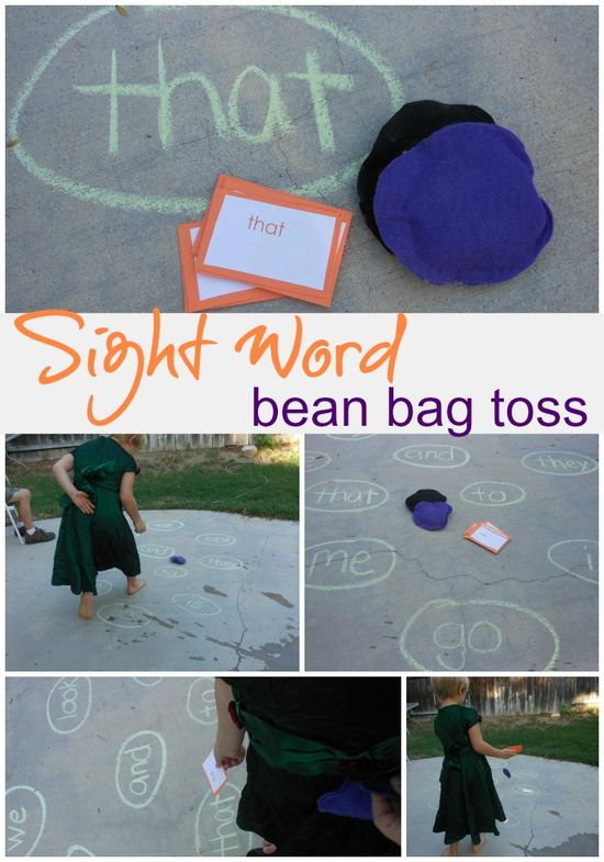 sight word bean bag