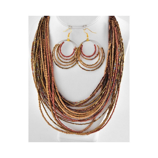Sian Stone Necklace Set ❤ liked on Polyvore