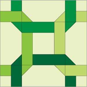 FREE Celtic Twist 12″ quilt block pattern.