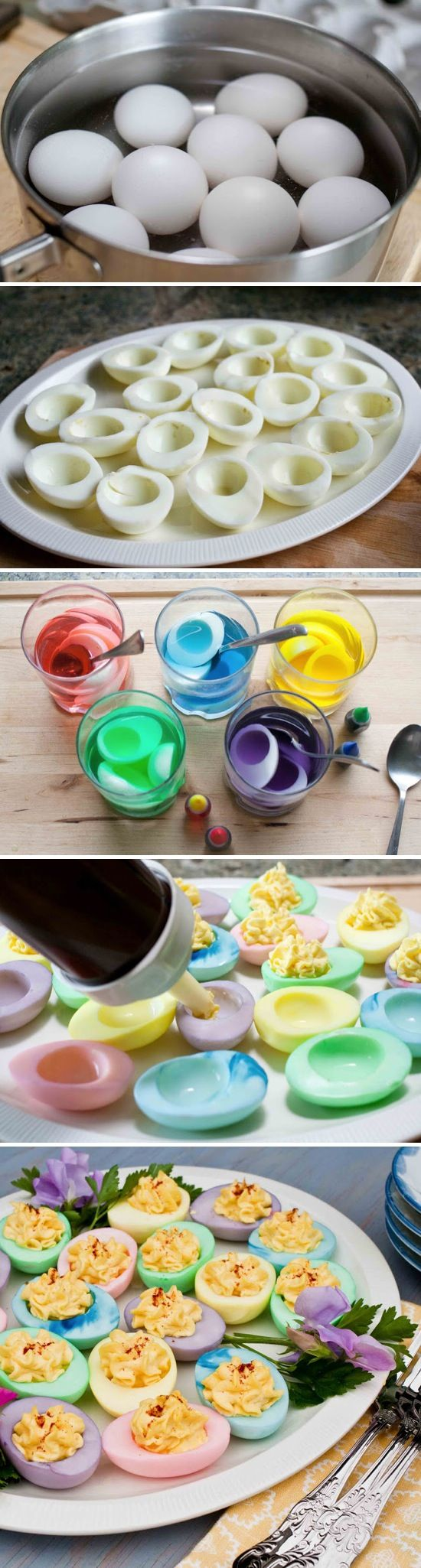 This easy Easter recipe for Colorful Deviled Eggs from Recipe by Photo is a crea