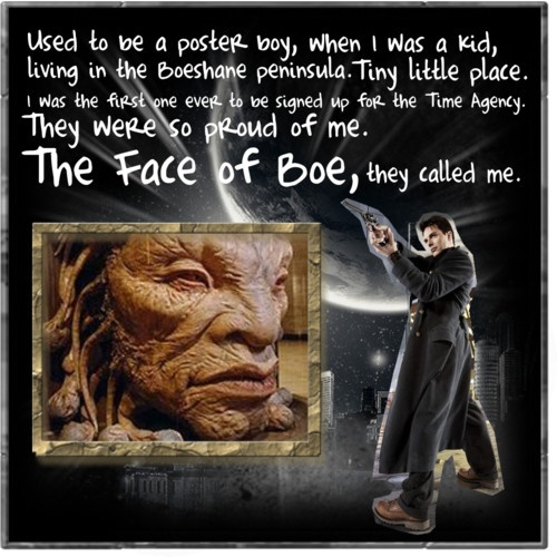 :)  Would love to see the path he took from Captain Jack to the OLD Face of Boe.