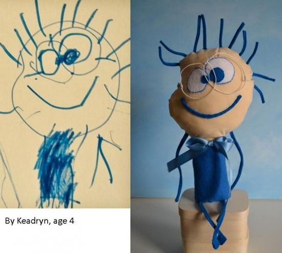 send a kid's drawing to this company and they send you back a toy!….. must