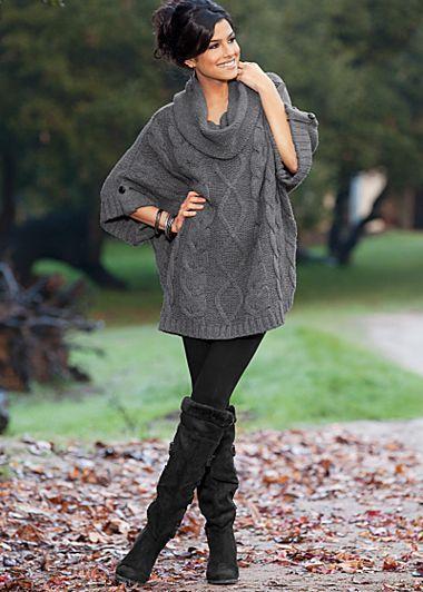 Cowl Neck Sweater Dress.
