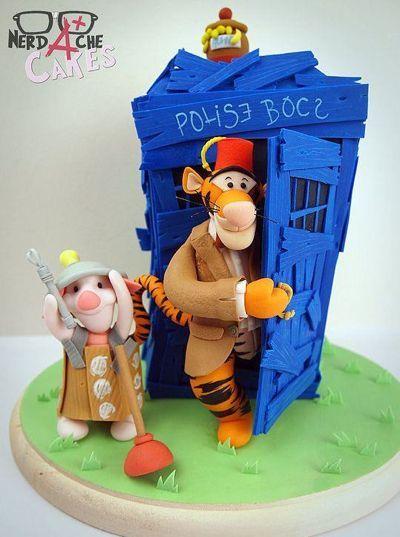 Winnie the Pooh TARDIS cake- brilliant!