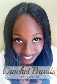 Freetress Yaky Pony Crochet Braids with a knotless middle ...